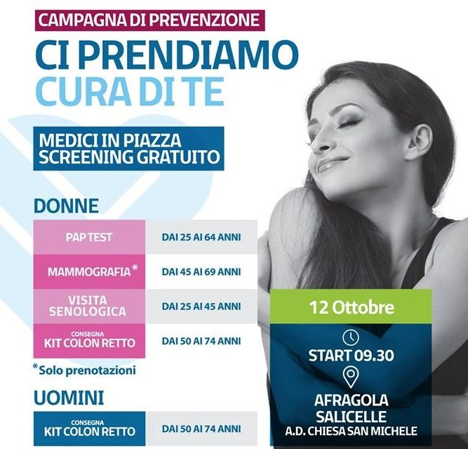 Il 12 Ottobre visite gratuite e di prevenzione ad Afragola