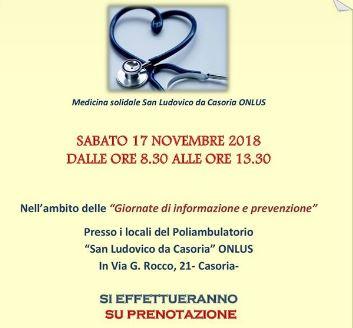 """Visite gratuite a Casoria. L'ambulatorio di medicina solidale """"San Ludovico"""" in prima linea"""