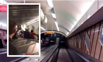 Metro Roma, crolla scala mobile: diversi feriti