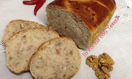 Treccia di pane con noci e pancetta a lievitazione naturale