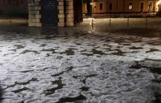 Catania. Forti temporali e grandine paralizzano la città