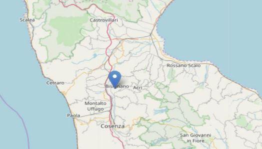 Scossa di terremoto in provincia di Cosenza: avvertita dalla popolazione