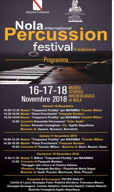 Nola International Percussion: tre giorni in musica dedicati al mondo delle percussioni