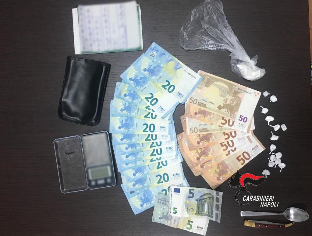 Casalnuovo di Napoli. I carabinieri arrestano uomo per detenzione di cocaina