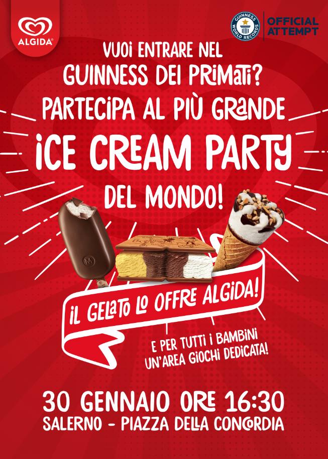 Ice-Cream party a Salerno: degustazione gratuita di gelati per tutti