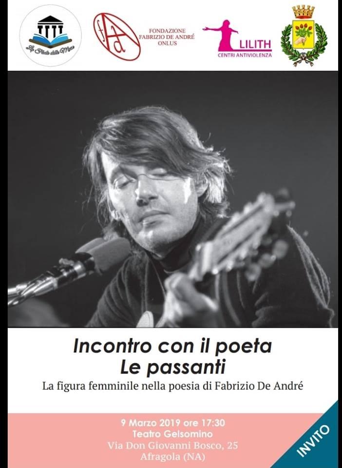 """Ad Afragola va in scena """"Le Passanti"""" la figura femminile nella poesia di Fabrizio De André"""