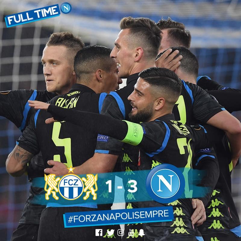 Qualificazione agli ottavi ipotecata per il Napoli grazie ad un netto 1-3 in trasferta a Zurigo. Occhio però ai cali di tensione