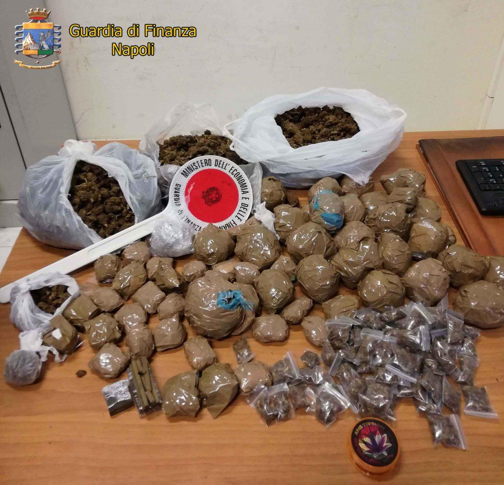 Blitz della Guardia di Finanza contro lo spaccio di droga tra via Foria e Corso Garibaldi a Napoli: tre nigeriani arrestati