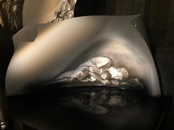 Torna a Napoli il grande l'artista francese Ernest Pignon-Ernest con un'installazione dedicata ad otto mistiche cristiane