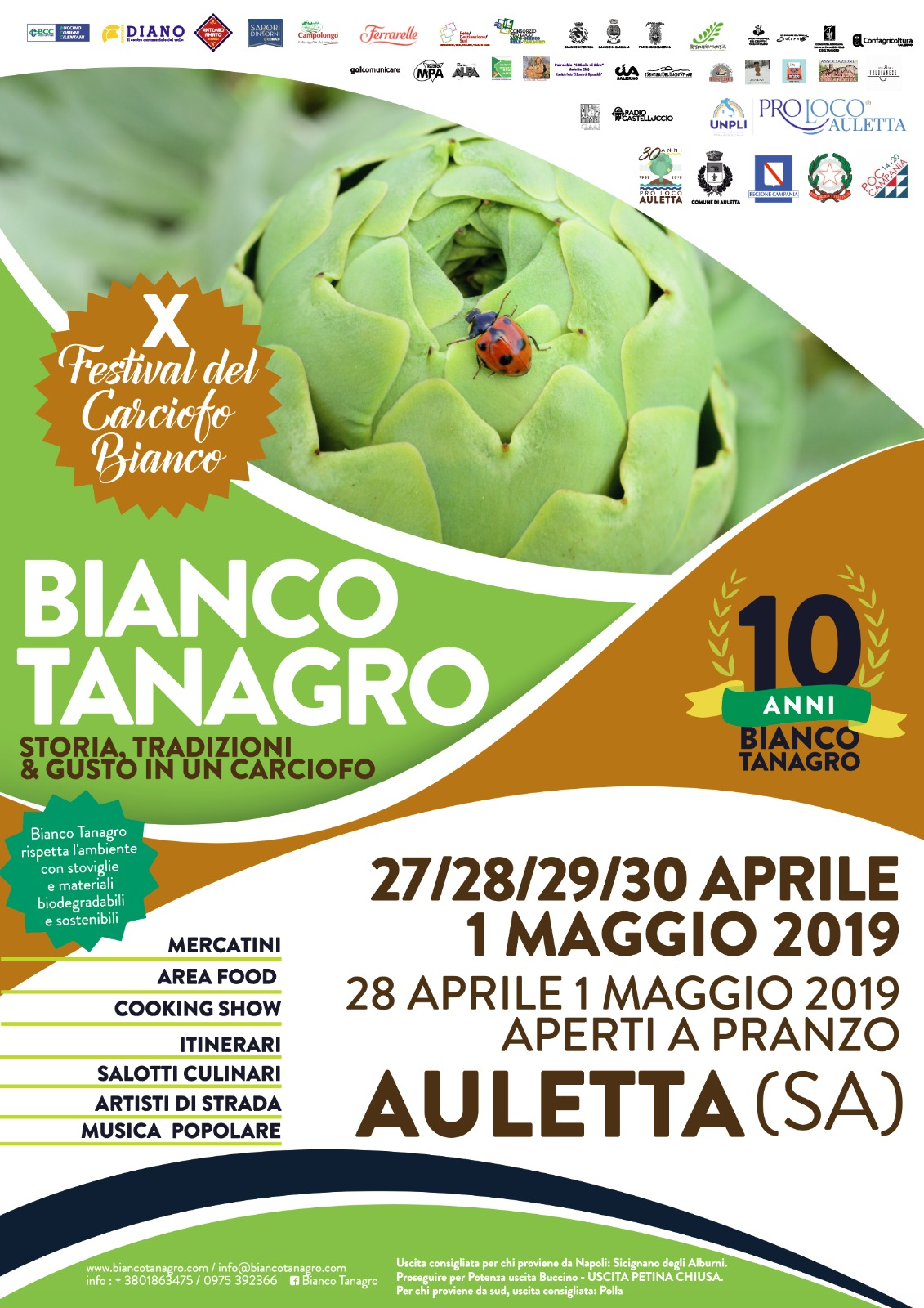 Bianco Tanagro:  dal 27 aprile al 1° maggio nel borgo di Auletta
