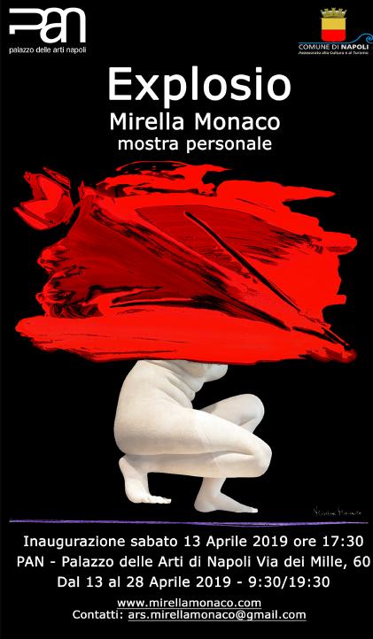 Napoli. Dal 13 al 28 aprile 2019 al PAN la mostra dell'artista Mirella Monaco