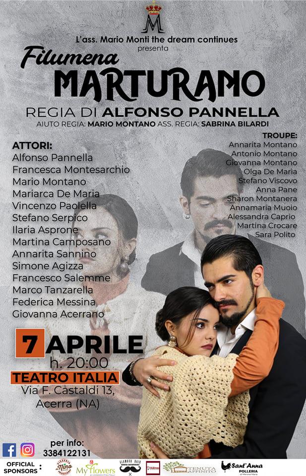 """Alfonso Pannella e i suoi giovani attori in scena con """"Filumena Marturano"""""""