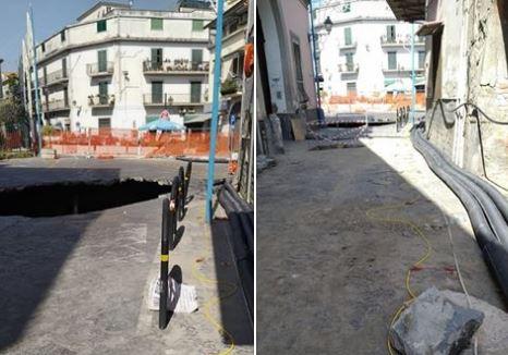 """Voragine a Casoria. Il sindaco Bene: """"Innestati i diodi per il controllo del sottosuolo"""""""