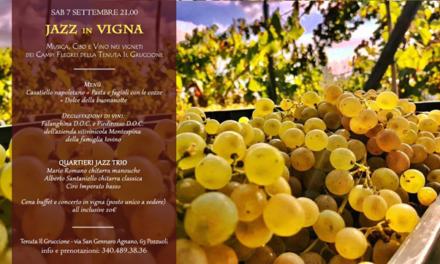 Ritorna Jazz in Vigna, appuntamento sabato 7 settembre a Pozzuoli