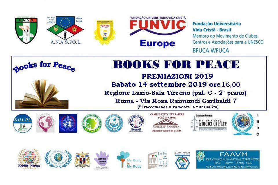 """""""Margherita Candia una vita per la Pace"""" al premio Books for Peace 2019"""