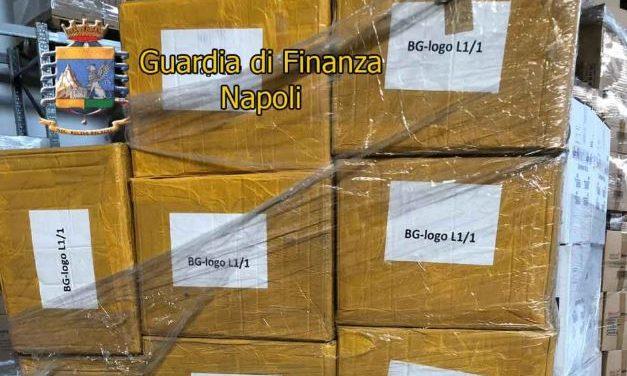 Scarpe e accessori contraffatti: numerosi sequestri della Guardia di Finanza ad Arzano e Teverola