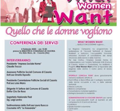 Casoria, parte il progetto What Woman Want