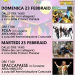 Carnevalando 2020, sfilata di carri e concerti sotto le stelle a Piana Monte Verna