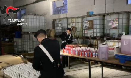 Laboratorio abusivo di detersivi e sanificante per mani: scoperto e sequestrato dai carabinieri a Scisciano