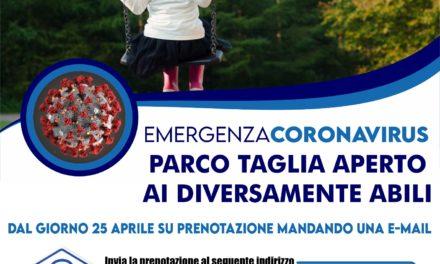 Cardito. Il sindaco Cirillo apre il Parco Taglia ai bambini disabili
