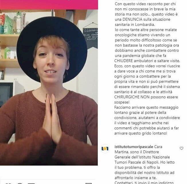 """Malata di cancro non può essere curata a Milano. Il Pascale di Napoli: """"Vieni qui da noi"""""""