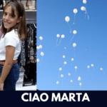 Addio Marta, morta a 10 anni: palloncini bianchi per ricordarla