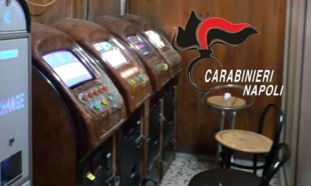 Controlli dei carabinieri a Casandrino: trovati un bar slot machines illegali, sanzionata la titolare