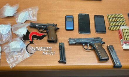 Qualiano, blitz dei carabinieri nell'abitazione di una 70enne, rinvenute armi e droga: arrestata