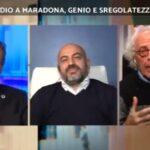 """Mughini va giù pesante su Maradona: """"Era sfatto e disperato da anni"""""""