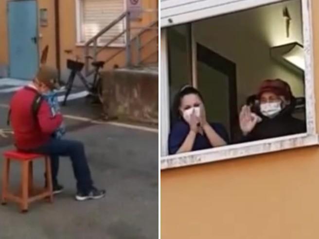 Stefano, alpino 81 enne, dedica alla moglie malata di covid: il VIDEO
