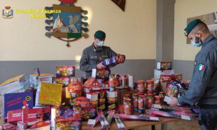Guardia di finanza sequestra a Casalnuovo oltre 4.300 botti pirotecnici illegali: 4 arresti