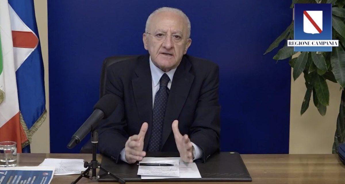 """Emergenza Coronavirus. De Luca: """"In Campania inviati solo 10 anestesisti e qualche decina di medici"""""""