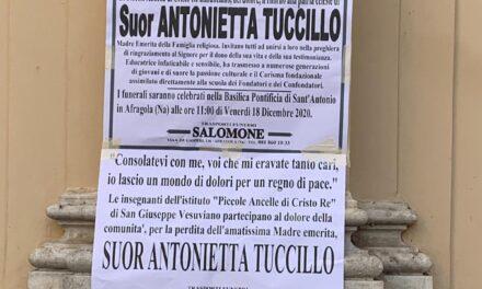Afragola. Stamattina i funerali di suor Antonietta Tuccillo, celebrazione con il cardinale Sepe