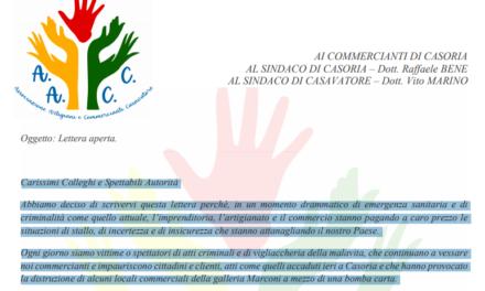 """Associazione artigiani e commercianti di Casavatore: """"Fare fronte comune contro tutti gli atti di criminalità"""""""