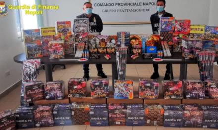 Operazione della Guardia Finanza: maxi sequestro di botti illegali a Frattamaggiore, Acerra e Ercolano, quattro arresti