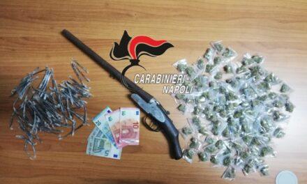 Brusciano. Fucile e droga scoperti e sequestrati dai carabinieri