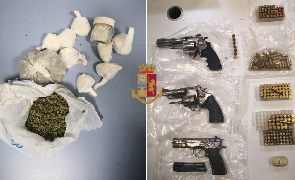 Rione Traiano di Napoli: sequestrate armi e droga