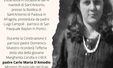 Afragola ricorda la giovane Margherita Candia con l'inaugurazione di un suo Quadro in Basilica