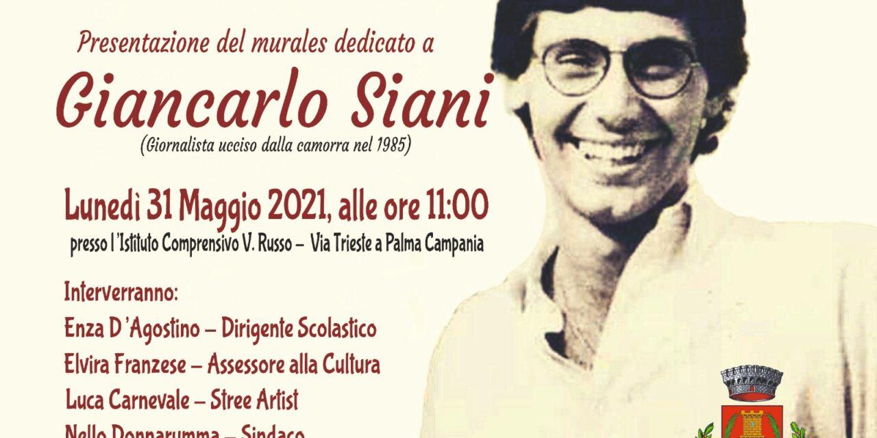 Palma Campania, lunedì la presentazione del murales dedicato a Giancarlo Siani
