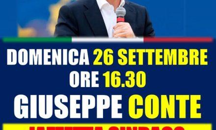 Domenica arriva Giuseppe Conte ad Afragola a sostenere il candidato sindaco Antonio Iazzetta